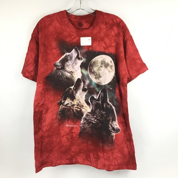 Wolf Face NWT The Mountain 100/% Cotton Kid/'s T-Shirt